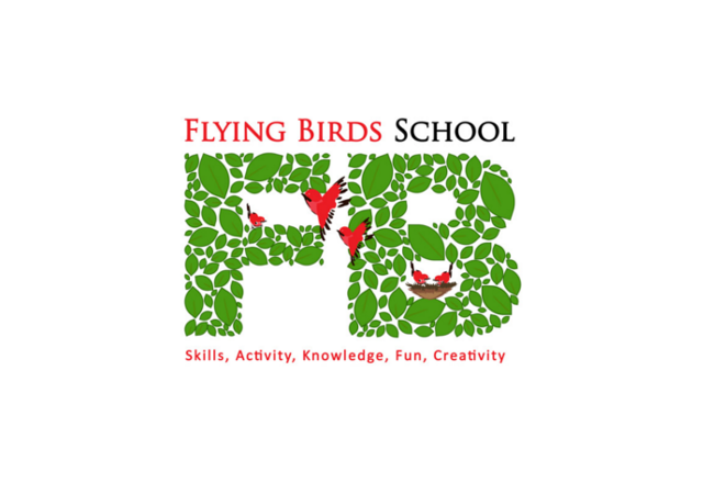 Flying birds school logo